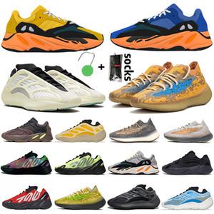 ayakkabı 3M STATIC RUNNER Boost 700 v2 Running Shoes For Womens Mens Azael Alvah Alien Mist Vanta Luxury Designer Sneakers Numara 46