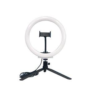 Mobile Phone Live Light Flashing Ring Light 10 Inch Integrated Bracket Tripod Fill Beauty for Tiktok Youtube Live Anchor