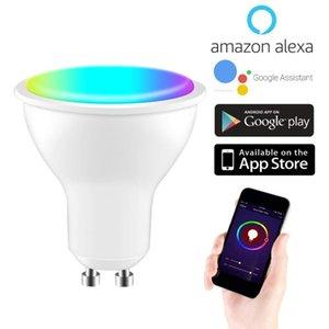 Spotlights Tuya 6w GU10 GU5.3 RGB+CW Smart Spotlight Wifi Light Bulb 90-240V 6500K Automation Modules Work With Alexa Google Home