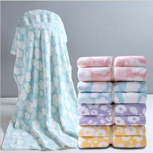 Bath Shower Towel Face Towels Set Thick Coral Fleece Towels Wearable Bath Towels Velvet Body Wrap Bath Robe Bathrobe Quick Drying HWC6054