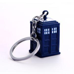 Доктор Ключ Цепь Tardis Ключные кольца для подарка Chaveiro Car Keychain Ювелирные Изделия Ключ Вид Держатель Ключ Souvenir YS11116 J0306