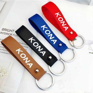 Keychains PU Leather Keychain Business Gift Key Chain Car Wallet For Hyundai KONA