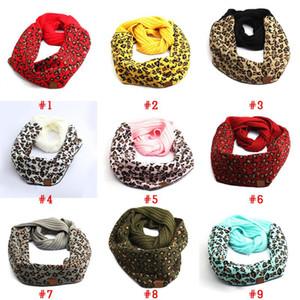 Sciarpa in cotone cc sciarpa invernale caldo sciarpe per la donna moda leopardo stampato sciarpa stampata con grembiuli di etichette all'ingrosso DHL / UPS