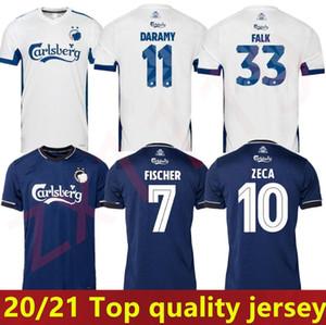 20 21 21 Danish Copenhagen Fischer Soccer Jersey Away Deep Blue Sigurdsson Zeca N'Doye Skov Soccer Uniform Uniform Copenhaghen Jersey 2020