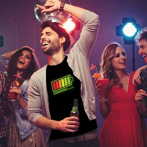 2021 New Led From Men Party Rock Dj Disco Enabled by Sound Levou T-shirt Hot Sale Light Up and Down Flashing Men's Tshirt Equalizer 9z8h