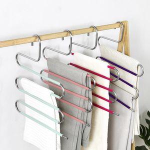 Hangers & Racks S Shape Clothes Pants Trouser Hanger,Multi Layer Storage Rack Closet Space Saver Multilayer Wardrobe Clothing Organizer