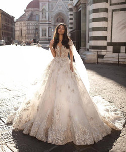 2021 Berta A Line Wedding Dresses With Wrap Lace Appliqued Beads Backless Bridal Gown Boho Wedding Dress Luxury Vestidos De Novia