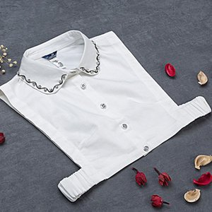 Women's Blouses & Shirts White Female Removable Decorative Crystal Stand Turn Downn Shirt Girl Autumn And Winter Wild Women Gift