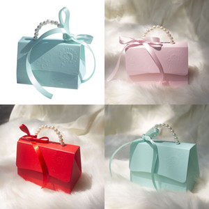 Pure Color Candy Box With Ribbon Portable Small Paper Boxes Marry Supplies European Style Free Shipping 1 69kc J2