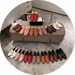 Alta Qualidade Mulheres Moda Redonda Cabeça Sólida Cor Flat Salto Flat Tênis Plano Temperamento Formal Mulheres Sapatos Preguiçoso Meio Arrasto Sapatos Casuais