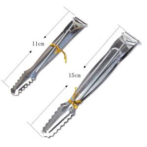 Narghilè Tong 11cm 15 cm mini metallo ingranaggio acciaio acciaio shisha charcoal morsetto metallico clip nargo clip fumo sigaretta pulito strumento