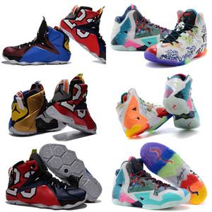 Top Calidad XI 11 Premium ¿Qué es el 2014 multicolor XII 12 Elite lo que los hombres deportes los zapatos de baloncesto Tamaño 40-46