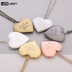 Beste Verkauf von Ornamenten handgefertigt Kann Foto herzförmige Anhänger Halskette setzen Ich liebe dich Liebe Box Halskette für Frauen Accessoires