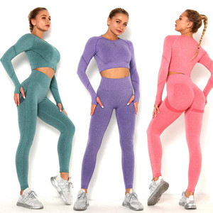 Yoga Set Sports Suit For Women Workout Sports Outfit Fitness Set High Waist Seamless Workout Clothes Women Activewear