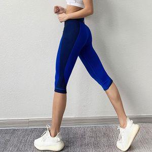 Binand Collants Femmes Sports Leggings Fitness Gym Leggings Femmes Lycra Sportif Pantalons Femme Capris Yoga Sport 3/4 Leggings Q0126