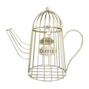 Universal Coffee Storage Basket Cup Holder Mug Shape Black Coffee Pod Holders Storage Organizer For Counter Bar Holders