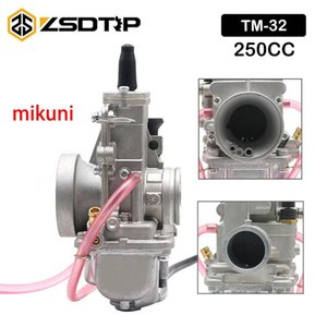 ZSDTRP MIKUNI TM / TMX صمام مسطح الكربوهيدرات 32MM TM32 Smoothbore Carb ل محرك 250CC MOTO