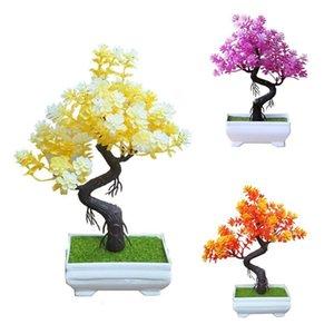Artificial Potted Árvore Bonsai Simulação Casamento Fase Festa Jardim Home Office Desktop Decor Table Centerpieces