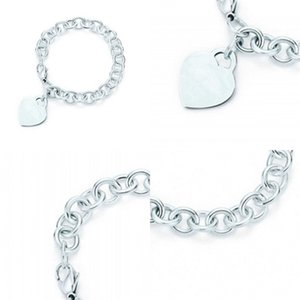 Charm for Gifts 925 Sterling Silver Heart Shaped Women's Elegant Tif Bracelet Lock Tif Bracelet Silverware Matching World 2 R2