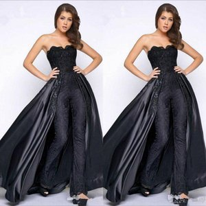 Modest Strapless Evening Dresses with overskirt Formal Pantsuits Prom Dress Floor Length Party Gowns Plus Size