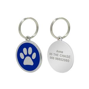 2021 Fashion stainless steel bone dog paws pet tag Pet ID tag pet pendant dog tag