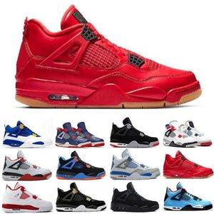 Denizyıldızı Neon 4 4 S Basketbollar Erkekler Için Ayakkabı Yeni Ateş Kırmızı Çam Yeşil Kraliyet Toe Erkek Moda Spor Sneakers Eğitmenler Boyutu 7-13 Krtt8hs9