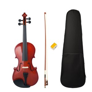 Full Size 4 4 Violin Fiddle Student Violin Basswood Violin Kit +Bridge+Rosin+Case+Bow Natural Color For Beginner