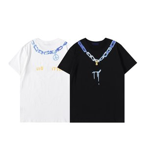 남성 여성 T 셔츠 핸드백 신부 들러리 드레스 여름 조각 유명한 디자이너 인쇄 반팔 수 놓은 검은 흰색 탑 스타일 느슨한 남성과 여자 의류 # 62