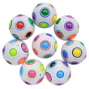 Rainbow Puzzle Ball Pack Matching Game Fidget Toy Stress Reliever Magic Kids Boy