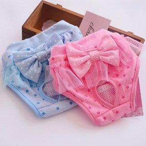 PET Dog Coton Bow Dentelle Bubble Sous-vêtements Physiologiques Sous-vêtements pour chiens Fournitures pour animaux de compagnie