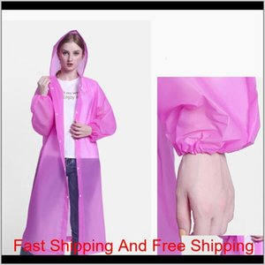 2020 Free Ship Outdoor Non-disposable Thicken Eva Rain Coat For Adult Man Woman Rain Jacket Fashion Raincoat With qylyBE bwkf