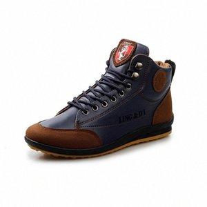 2019 zapatos de cuero impermeable de primavera y otoño, botas masculinas, botines, cordones, zapatos para hombre, zapatos deportivos cómodos diseñador SH 96xq #