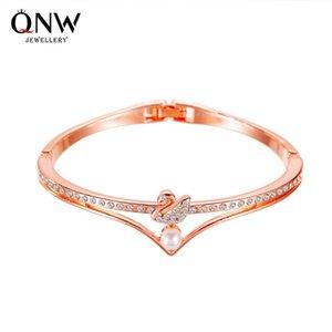 Coréen Mode Bijoux Tempéramament Little Swan Rose Rose Open Perle Bracelet Classic Populaire Main Accessoires