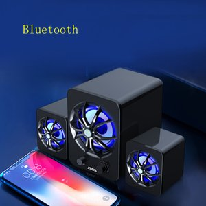 Bluetooth Speaker Cell Phones Wired Computer Speakers Combinations Colorful LED Breathing Lights Bass 3D Stereo Subwoofer Loundspeaker for Laptop