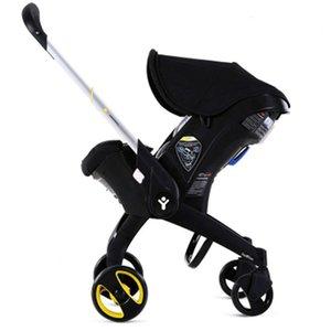 Carrinho de bebê recém-nascido portátil 4 em 1 carrinho de assento de carro com acessórios Luxo All-in-One Stroller