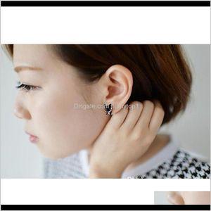 3D Cute Black Cat Piercing Stud Earrings For Women Girls And Men Pearl Channel Earring Fashion Jewelry Whol Sqcrxt Qxz4C Ngsx0
