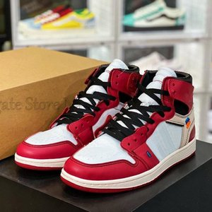 High OG 1s Mens Basketball Shoes Off Joint Design UNC Chicago North Carolina Chaussures Red Blue White Women Sports Sneakers Outdoor Trainer