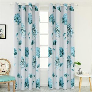 High Shading Japanese Banana Leaves Window Curtain Panel Kids Bedroom Home Decor