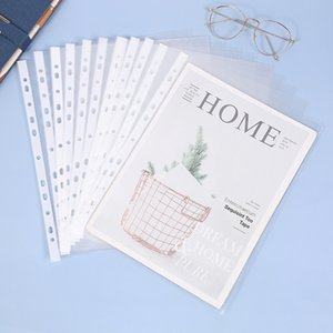 A411 Hole Transparent Loose Leaf Document Bag Thickened 100 Data Protection s   Piece