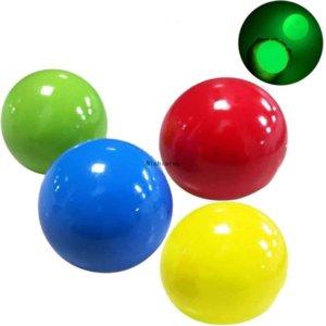 Горячие Chirstmas Люминесцентное стресс рельеф липкий шар потолочные шары светящиеся палочки к стене падают медленно душистые свечение игрушки подарки FY749