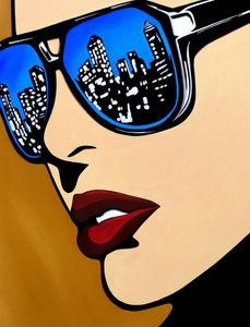 Pop mulher enorme arte abstrata decoração home decoração handpainted hd Pintura a óleo na tela da tela da lona Imagens 210210