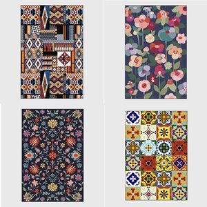 Carpets Geometric Stripe Printing Carpet Living Room Decor For Bed Rugs Rug Navy Blue