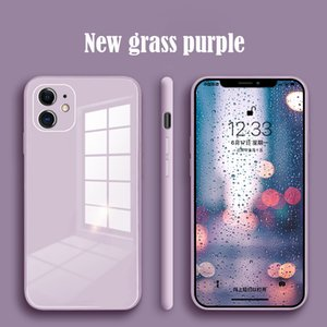 Original Liquid Silicone Tempered Glass Case for IPhone 11 12 Pro Max XS XR X 8 7 Plus SE 2020 Cell Phone Lens Protection Cove