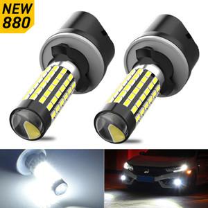 2x Fog Lights 880 H27 881 H1 H3 Led Bulb for VW Volkswagen Passat Golf Polo Beetle GTI Jetta Scirocco Touran Auto Lamp 12V 6000K