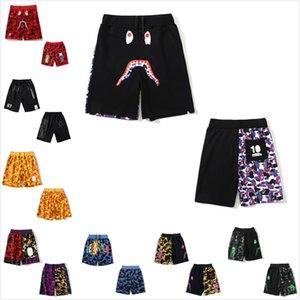 Frauen Shorts Hohe Qualität Männer Strandhosen Hai Hai Kopf Leuchtendes Knie Lenqth Hose Sommer Casual Color Matching Bring Tote Bag