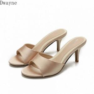 Сандалии 2020 Новые рыбы Тонкие Летние Дикая мода Высокий каблук Женская Обувь Большой Размер Тапочки S9KJ #