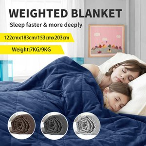 Reduce 20 15lbs Weighted Blanket Heavy Comforter Donna Duvet Stress Quilt Promote Deep Sleep Weighted Blanket for Autism Anxiety
