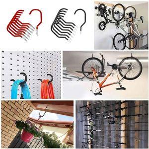 8pcs ganchos de ciclo colgando bicicleta bicicleta montaje de pared de montaje de almacenamiento racks soporte soporte soporte soporte soporte de tornillo de trabajo pesado