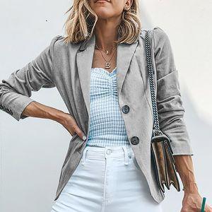 Cappotto da donna Ladies Solid Doppia Giù Colletto lungo Mouwen Jas Parka Garment T731