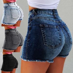20212020 Women's Jeans Shorts Tassel Hole High Waist Hot Pants Tutu Skirt Black Denim Womens For Free Shipping